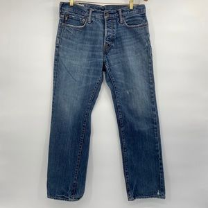 Abercrombie & Fitch low rise slim straight jeans